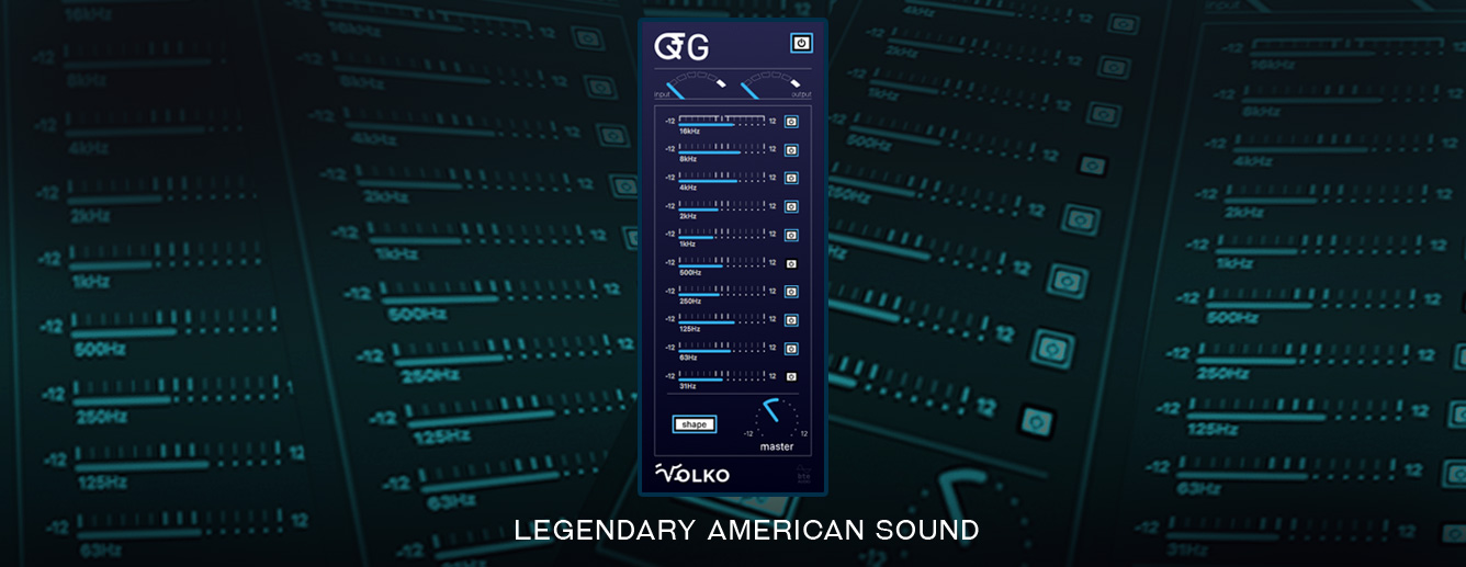 QG vintage American console 10 band graphic equalizer plug-in